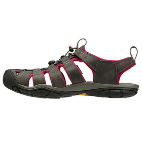 Keen Clearwater CNX Leather - Sandales Femme - gris/rose